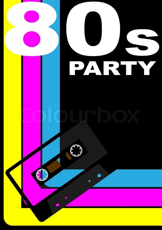 80s Party Poster Stock Vector Colourbox