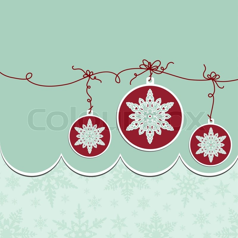 Cute Christmas Postcard Template Stock Vector Colourbox - Christmas postcard template