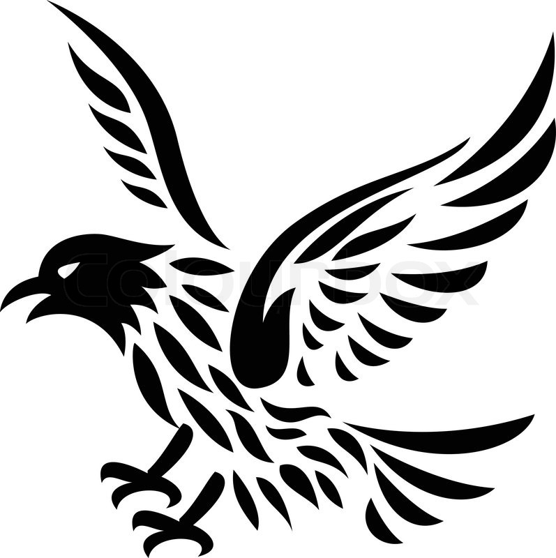 eagle tattoo stock vector colourbox. Black Bedroom Furniture Sets. Home Design Ideas