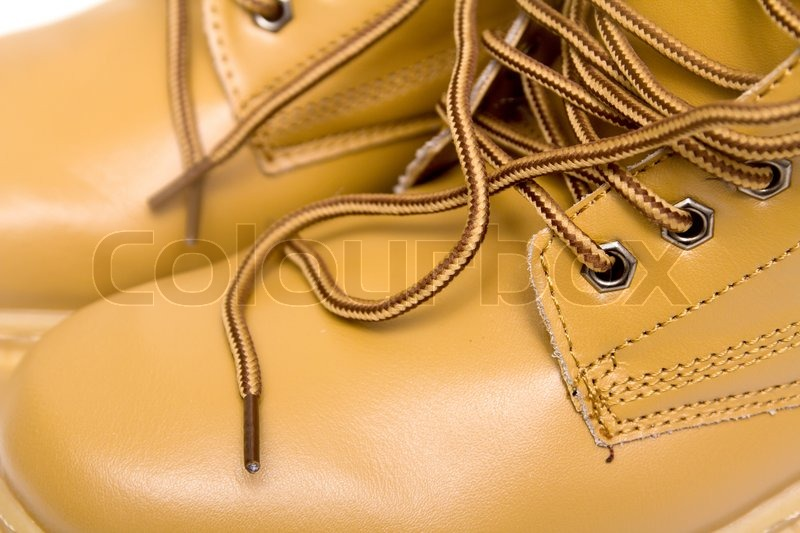 a5b7abe3f2c4 Snørebånd på de brune støvler