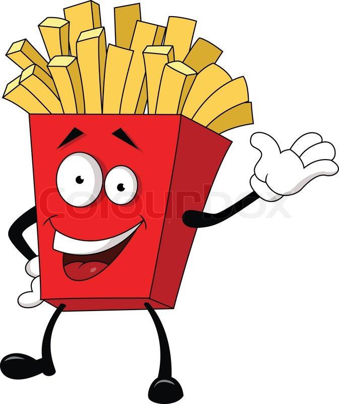 Illustration of fried potato cartoon vector colourbox