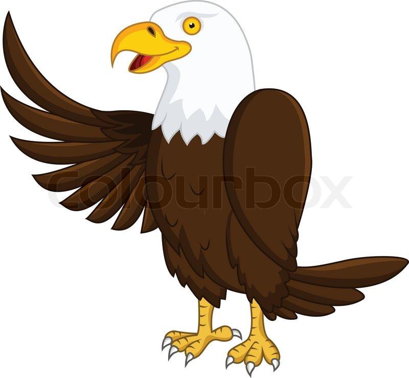 eagle cartoon stock vector colourbox rh colourbox com eagle cartoon images free cartoon eagle images