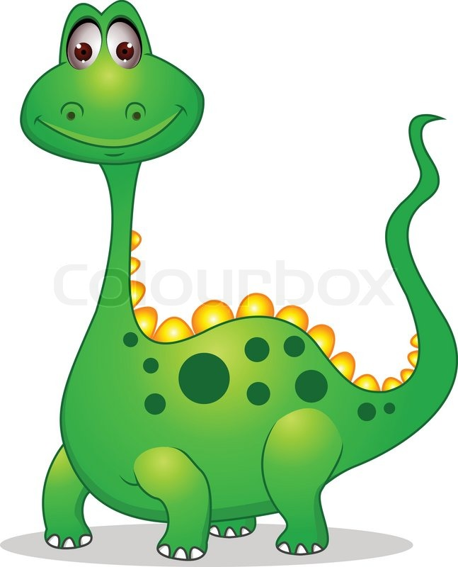 cute green dinosaur cartoon stock vector colourbox