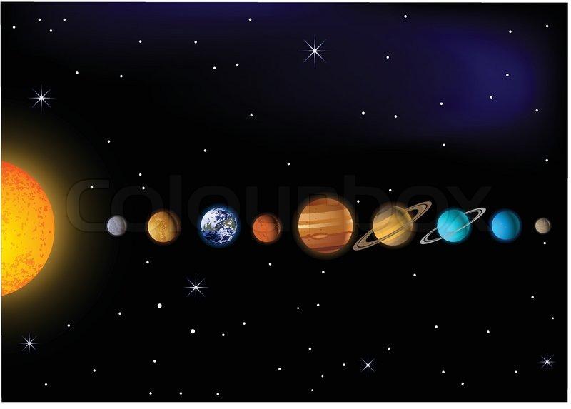 Solar system | Stock Vector | Colourbox