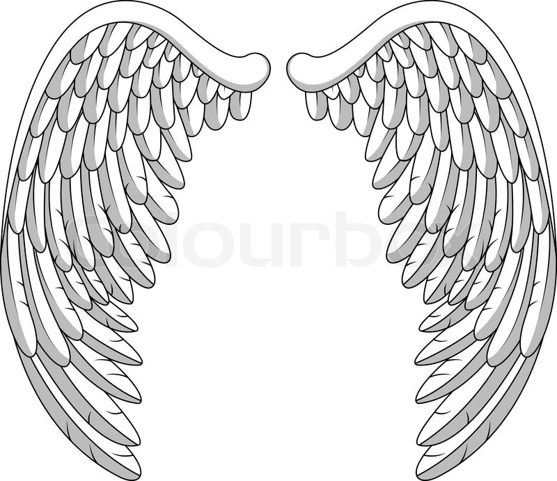 angel wings stock vector colourbox rh colourbox com illustrator vector angel wings free download vector angel wings