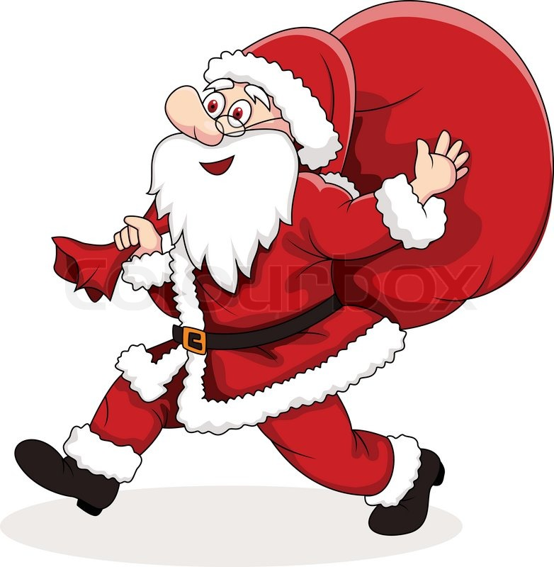 Plain Santa Claus | New Calendar Template Site