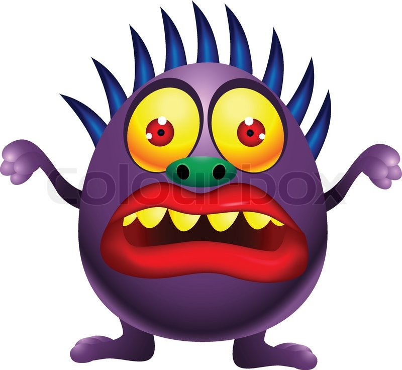 purple monster cartoon stock vector colourbox