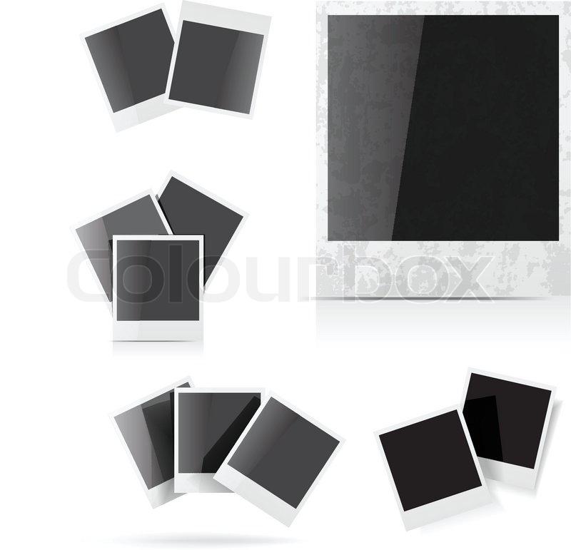 Polaroid Bilderrahmen | Vektorgrafik | Colourbox