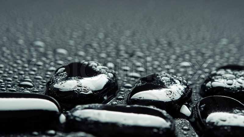 spa background black stones with water drops stock photo colourbox