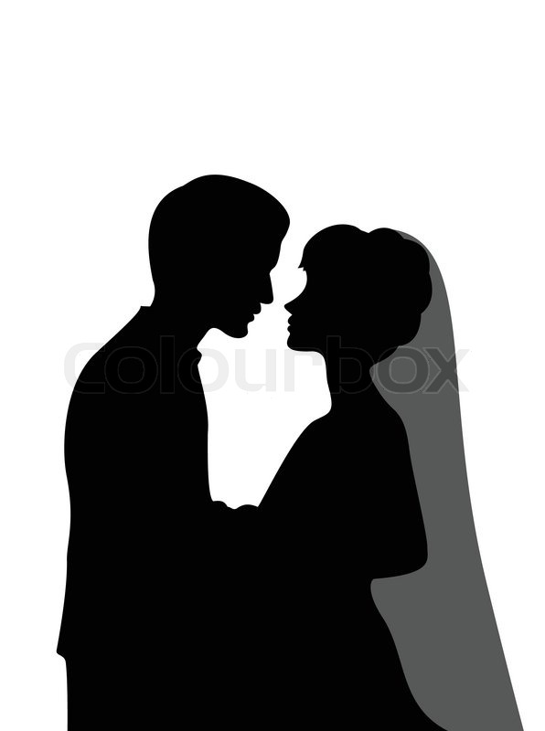 groom and bride silhouette stock vector colourbox rh colourbox com bride and groom vector png bride and groom silhouette vector free download