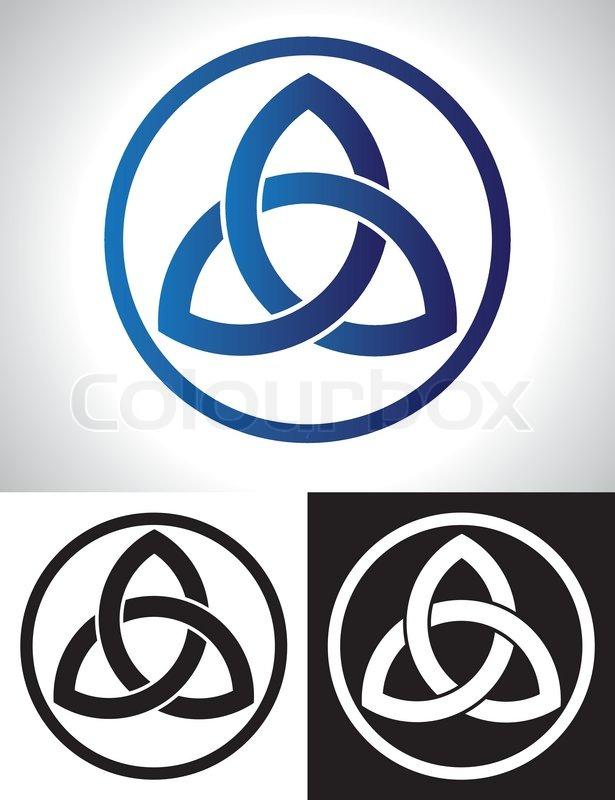 Celtic Trinity Knot Vector Stock Vector Colourbox