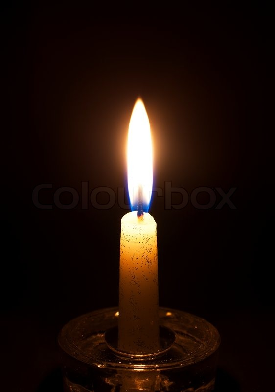 Closeup Of Burning Candle Stock Photo Colourbox