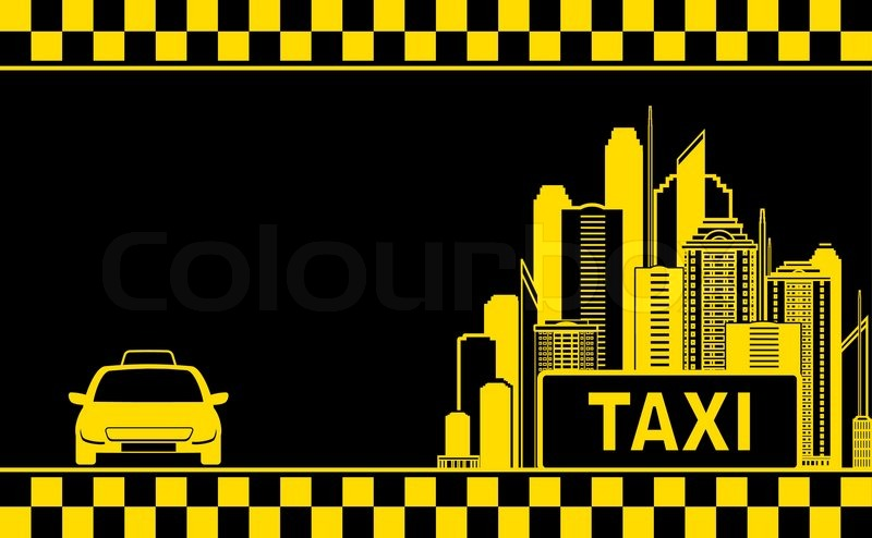 Night City Background For Taxi Stock Vector Colourbox
