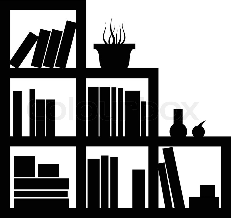 Furniture Library Vector Icon Stock Vector Colourbox