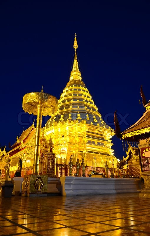 Wat Phra That Doi Suthep, Chiang Mai, Thailand.  Stock ...