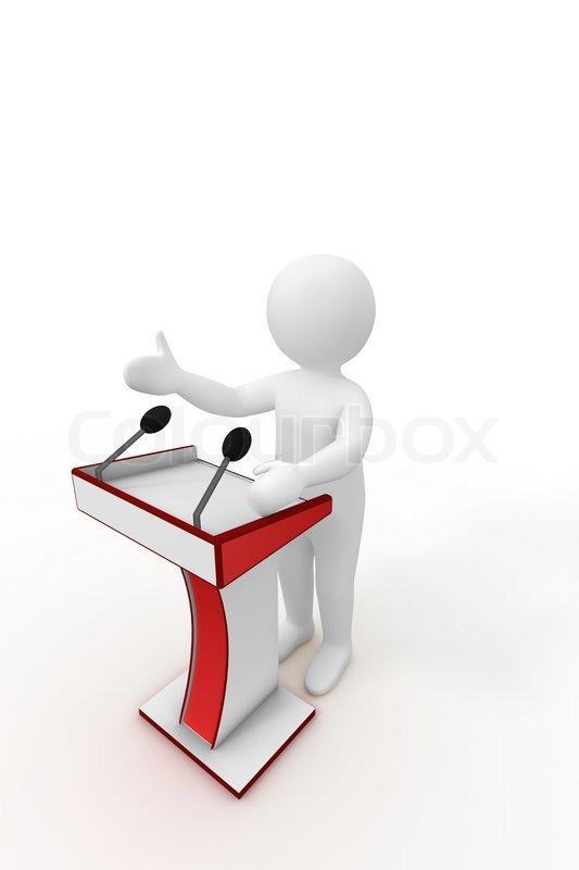 3d person giving a speech | Stock Photo | Colourbox