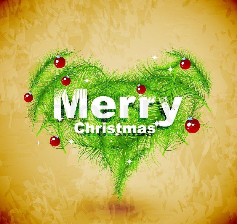 Christmas Love.Christmas Love Heart Stock Vector Colourbox