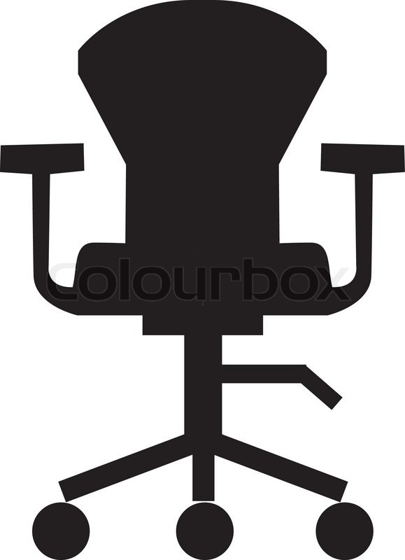 Drehbar stuhl symbol m bel symbol b ro zimmer for Stuhl design unterricht