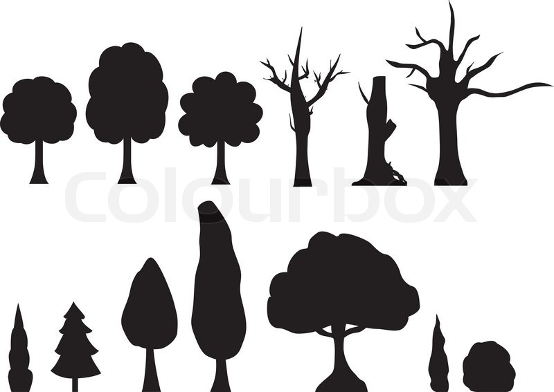tree silhouette vector stock vector colourbox rh colourbox com tree silhouette vector art tree silhouette vector top