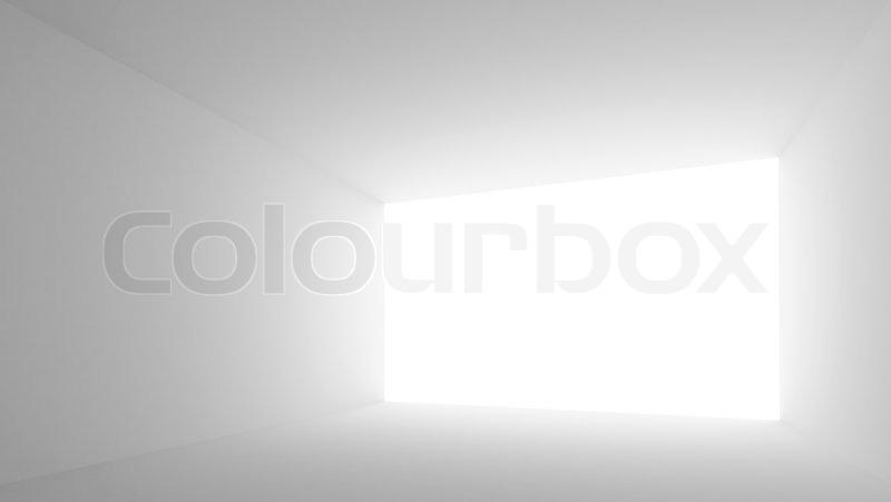 abstrakt architektur hintergrund leerer wei er raum innenraum mit gl nzender bildschirm. Black Bedroom Furniture Sets. Home Design Ideas