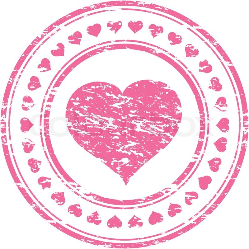 Vector Illustrator Of A Grunge Pink Rubber Stamp With