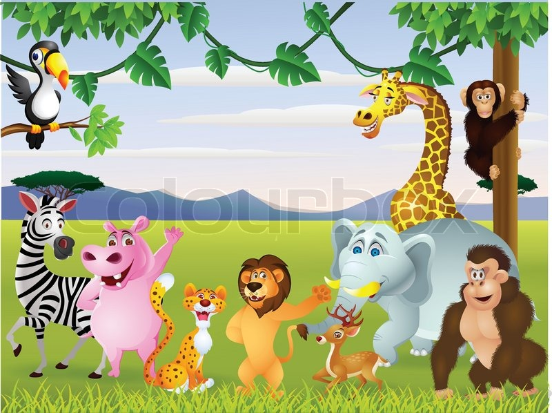 Baby Cartoons Funny Funny Safari Animal Cartoon