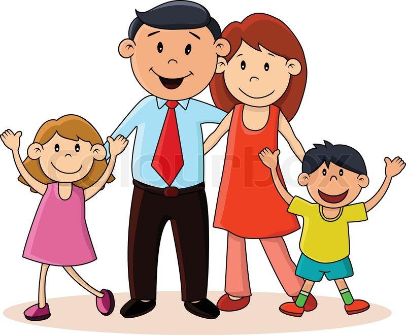 Happy family | Stock Vector | Colourbox