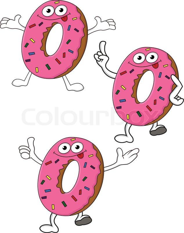 Cute Donuts Cartoon Donuts Cartoon Character