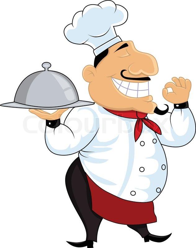 friendly chef cartoon stock vector colourbox rh colourbox com chef cartoon hat chef cartoon maker