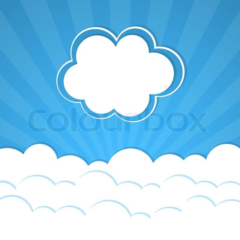 Cloud frame | Stock Vector | Colourbox
