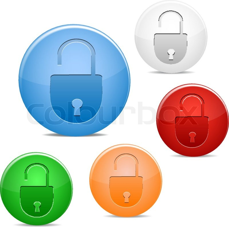 Open Lock Icon Open Lock Icon Vector