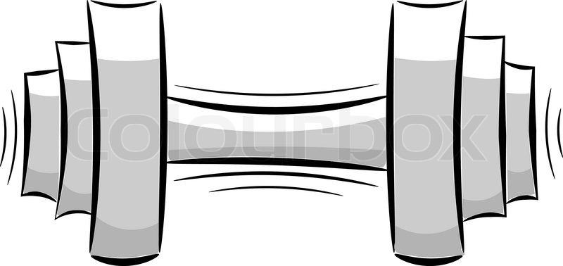 cartoon dumbbell eps10 stock vector colourbox