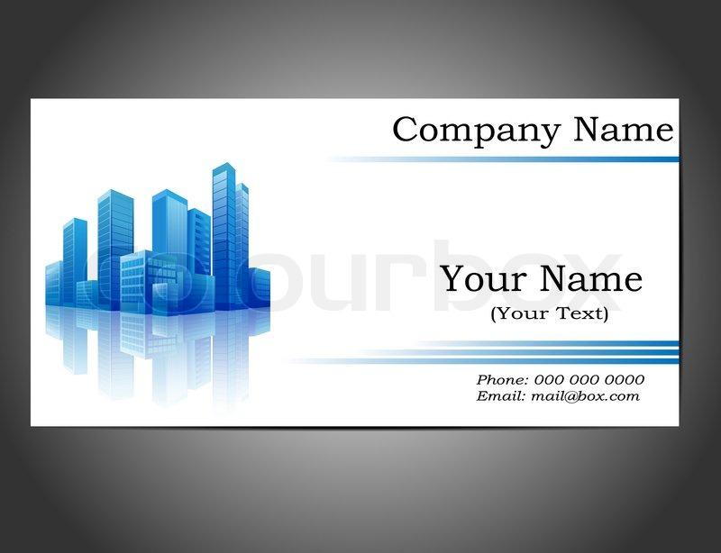 Business Card Stock Vector Colourbox