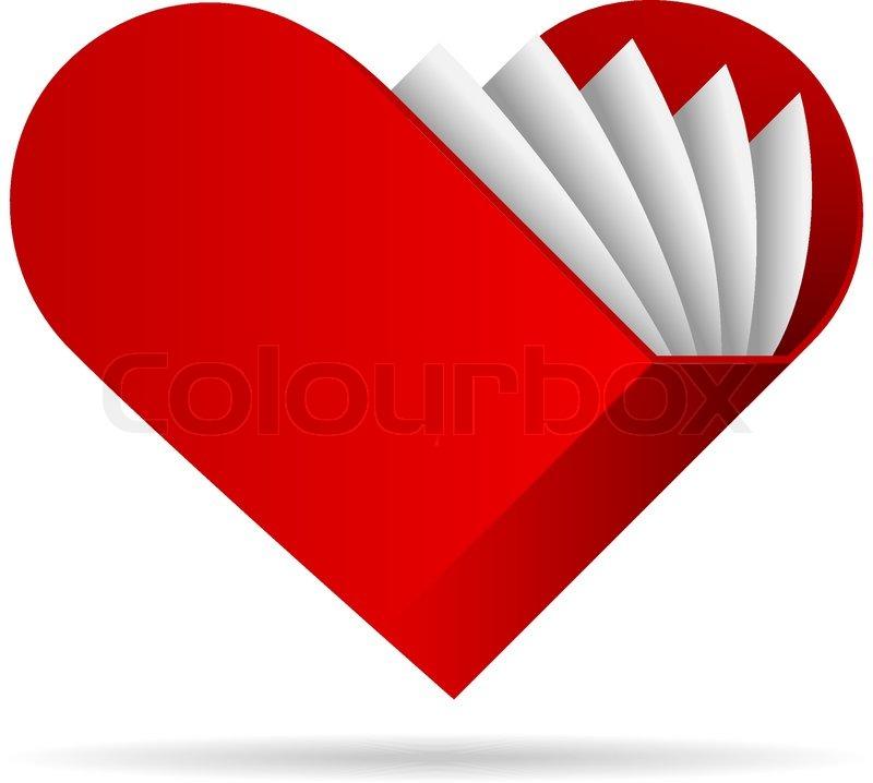 heart shape book vector illustration stock vector colourbox rh colourbox com heart shape vector png heart shape vector png