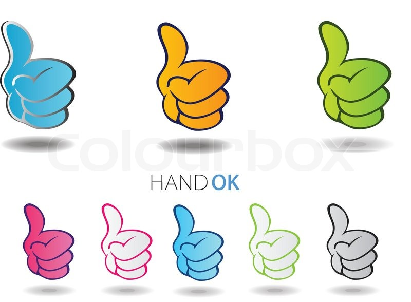 Ok Hand All Right Vector Sign Symbol Icon Stock Vector