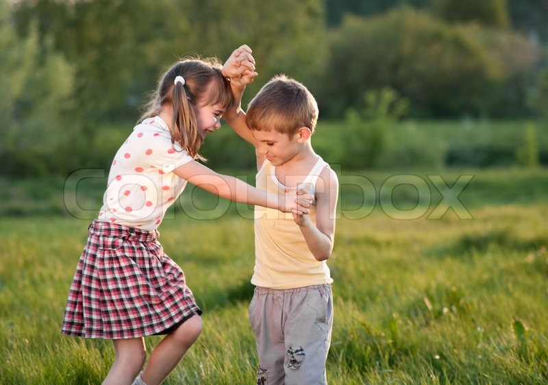 Children Fight Stock Photo
