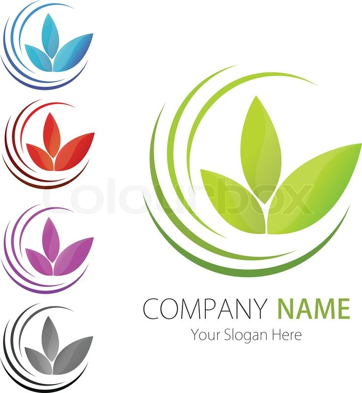 Company business logo design vector leaf ecology Business logo design company