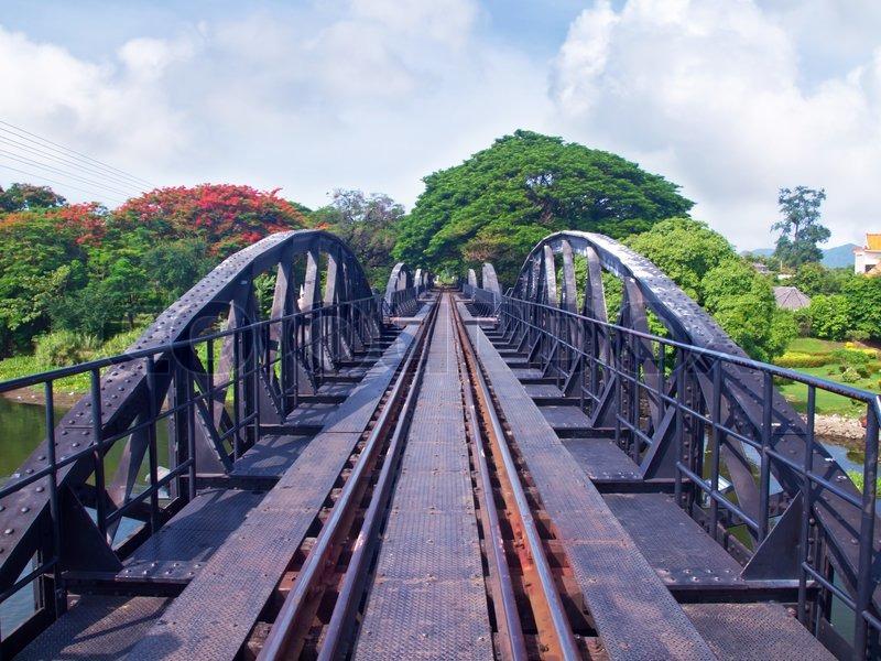 Stock foto af 'broen over floden kwai'