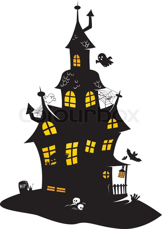 Haunted mansion stock vector colourbox - Cartoon haunted house pics ...