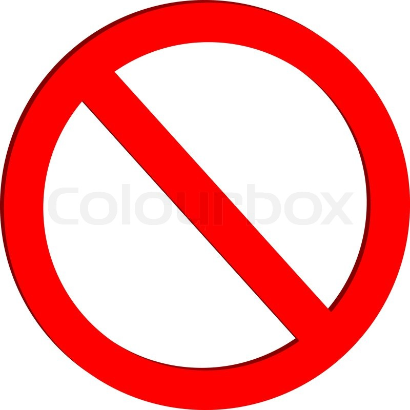 Not allowed sign on white background - vector   Stock ...