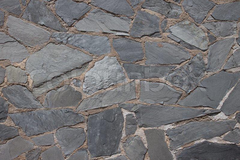 Granite Flagstone Pavement Wall Stock Photo Colourbox
