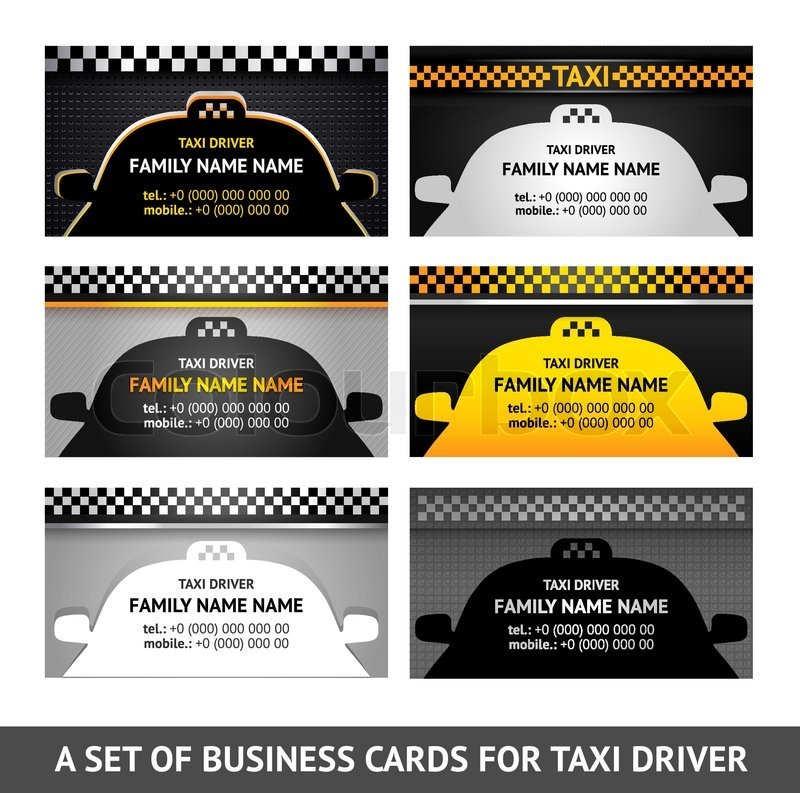 Business card taxi fifth set stock vector colourbox business card taxi fifth set vector reheart Image collections