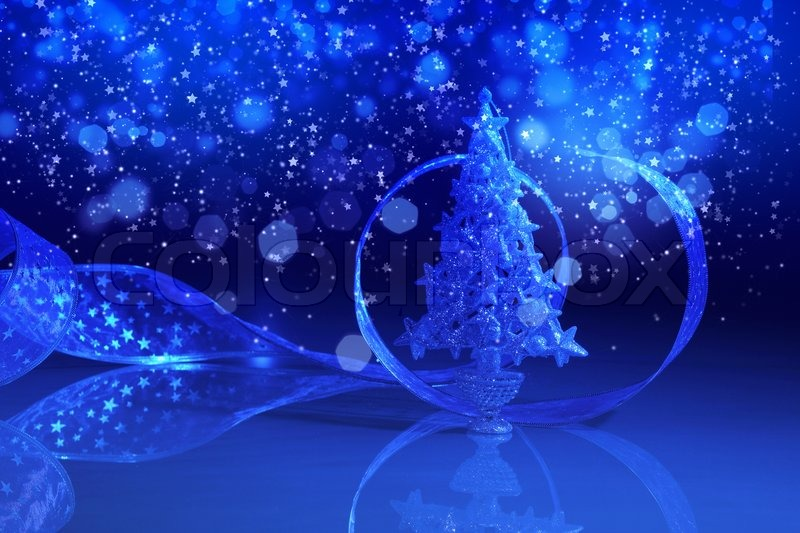 blue christmas collage stock photo colourbox - Blue Christmas