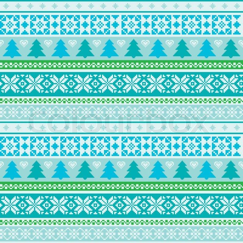 Fair isle ornamental pattern | Stock Vector | Colourbox