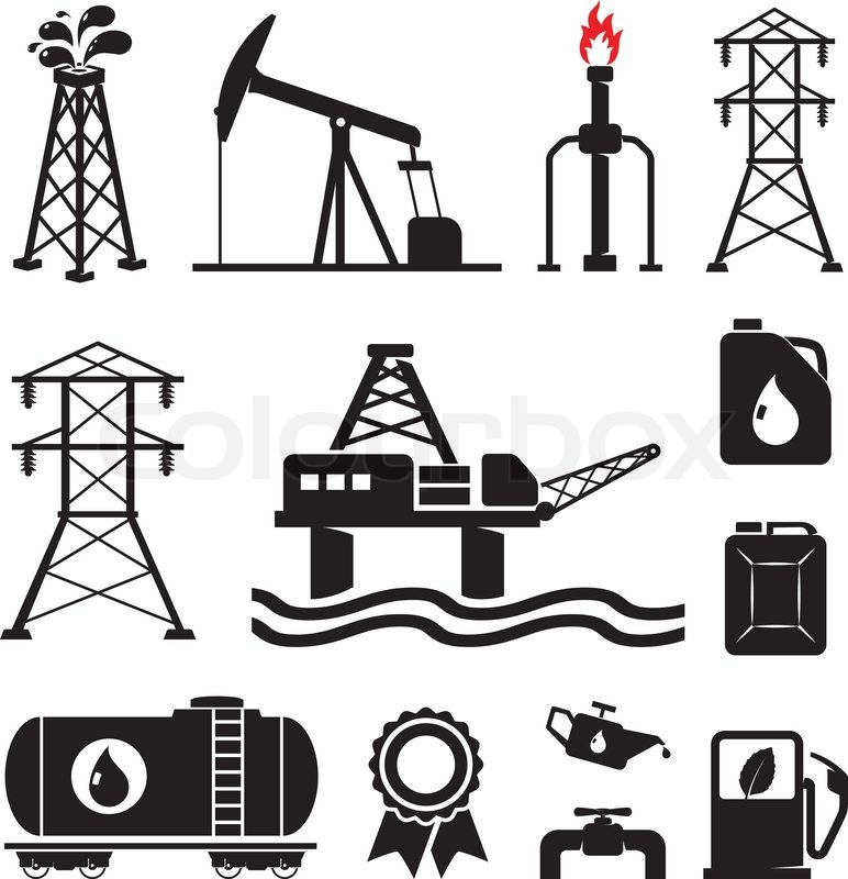 oil  gas  electricity symbols