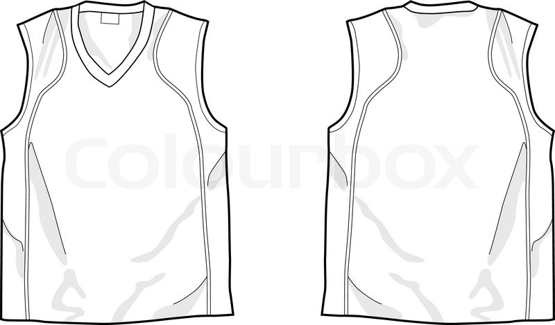 White sleeveless shirt stock vector colourbox stock vector of white sleeveless shirt pronofoot35fo Image collections