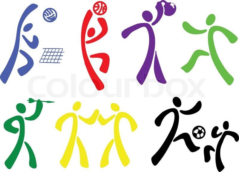 Fondo Con Iconos De Deporte: Sports Ikoner Sæt