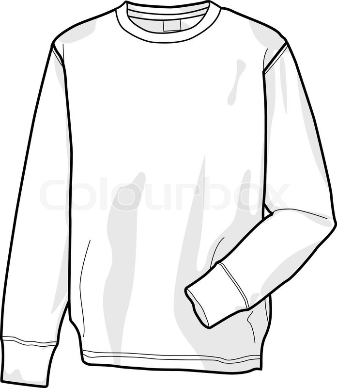 Colorable sweatshirt, front | Stock Vector | Colourbox
