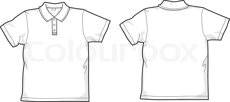 white polo shirt stock vector colourbox rh colourbox com polo shirt vector mockup polo shirt vector free download