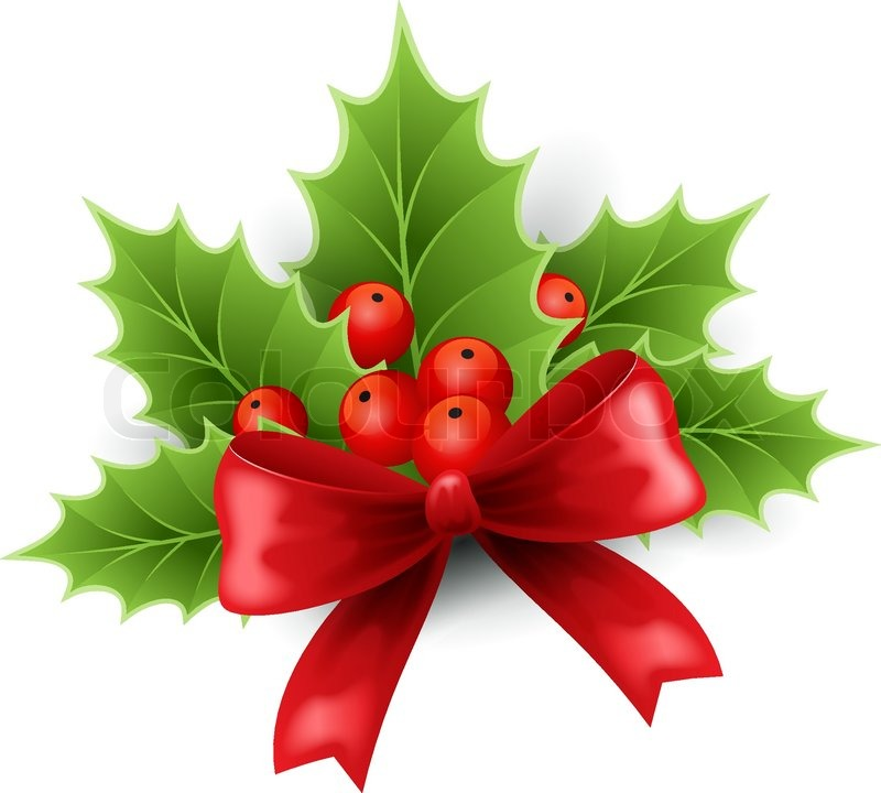 Similiar Christmas With Holly No Background Clip Art Keywords